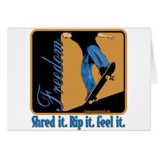 Het met een skateboard rijden briefkaarten 0