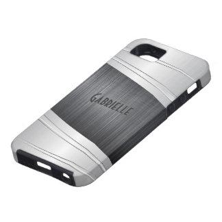 Het metaal Grijze Geborstelde Aluminium ziet eruit Tough iPhone 5 Hoesje