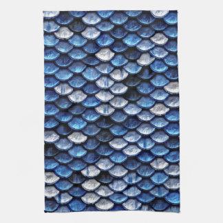 Het metaal Patroon van de Schalen van de Vissen Theedoek