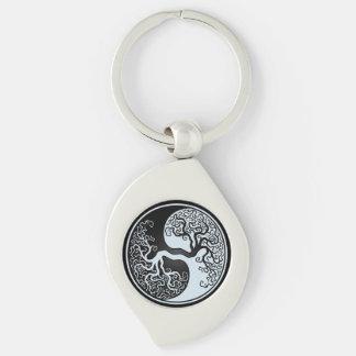 Het Metaal Yin Yang Keychain van de werveling