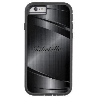 Het metaal Zwarte Ontwerp Geborstelde Aluminium Tough Xtreme iPhone 6 Hoesje