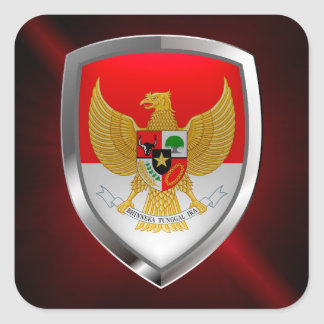 Het MetaalEmbleem van Indonesië Vierkante Sticker