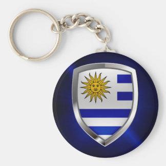 Het MetaalEmbleem van Uruguay Sleutelhanger