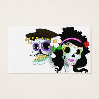 Het Mexicaanse Feestelijke Paar van de Schedel Visitekaartjes