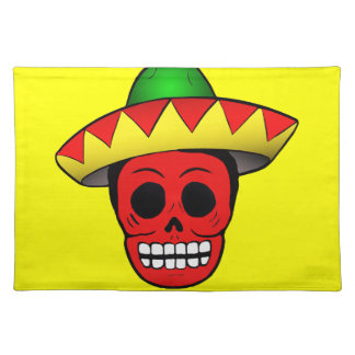 Het Mexicaanse Ontwerp van de Schedel Placemat