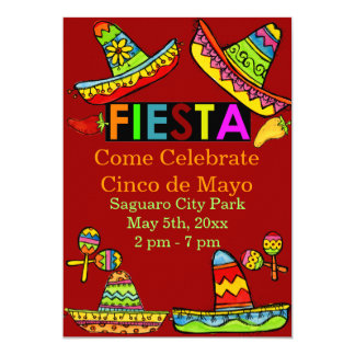 Het Mexicaanse Rood van de Uitnodigingen van Cinco