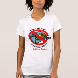 Het Micro- van de Gediplomeerde van dames C25K T Shirt