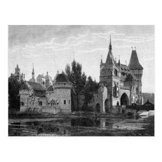 Het middeleeuwse Briefkaart van het Kasteel