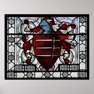 Het middeleeuwse Comité van het Gebrandschilderd g Poster