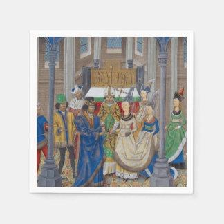 Het middeleeuwse Gemengde Schilderen van het Papieren Servetten