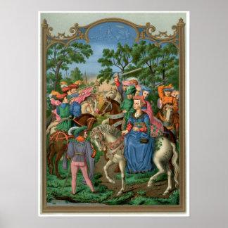 Het middeleeuwse Leven Poster