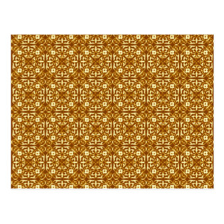 Het middeleeuwse patroon, het koper en de room van briefkaart
