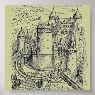 Het middeleeuwse Poster van het Kasteel