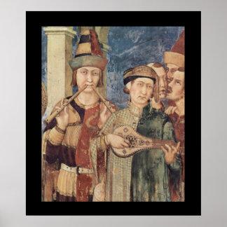 Het middeleeuwse Poster van Musici