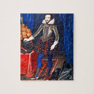 Het middeleeuwse Raadsel van het Portret Foto Puzzels