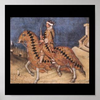 Het middeleeuwse RuiterPoster van het Portret Poster