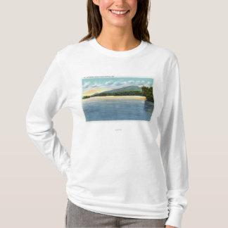 Het midden Uitzicht van het Meer Saranac van T Shirt