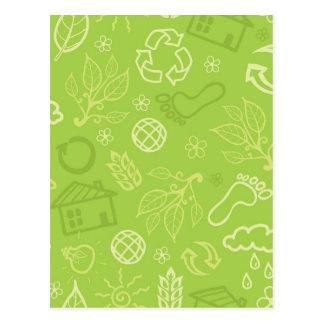 Het milieu groene patroon van Eco Briefkaart