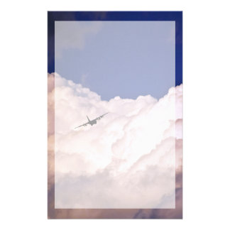 Het militaire Vliegtuig van het Vervoer door Briefpapier