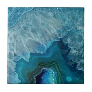 Het mineraal van de de steenGeode van het agaat Keramisch Tegeltje