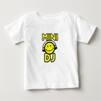 Het mini baby van het smileygezicht van DJ en Baby T Shirts