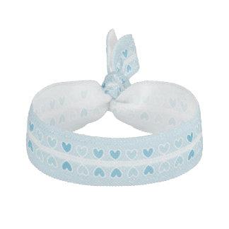 Het mini Blauwe Stropdas van het Haar van Harten Haarelastiekje