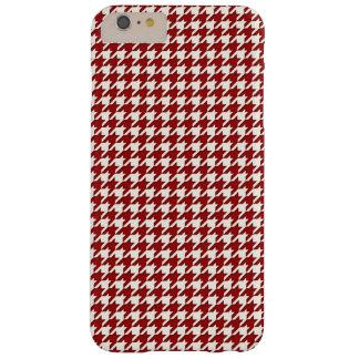 Het mini Rode Wit van het Patroon Houndstooth Barely There iPhone 6 Plus Hoesje
