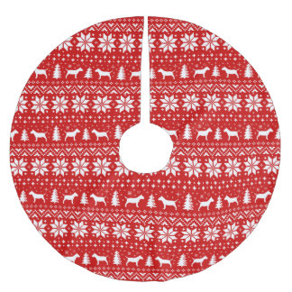 Het miniatuur Rood van het Patroon van Kerstmis Kerstboom Rok