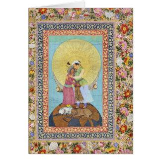 Het Miniatuur Schilderen van India van 1618 Briefkaarten 0