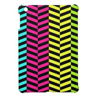 Het MiniHoesje van de Chevron van het neon iPad iPad Mini Hoesje