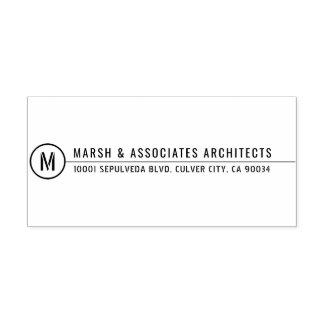 Het minimale Architecturale Monogram van de Lijn Zelfinktende Stempel