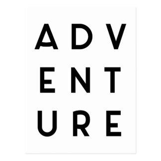 Het Minimalistische Citaat van het avontuur Briefkaart