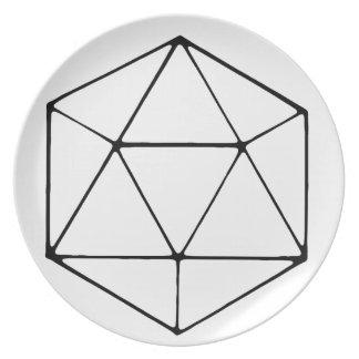 Het minimalistische D20 Tafelblad Gamer Geek van Melamine+bord