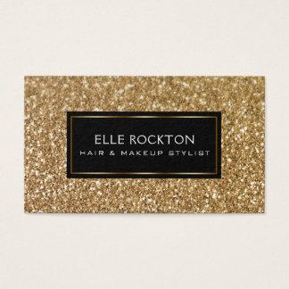 Het minimalistische Goud schittert de Zwarte van Visitekaartjes