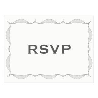 Het minimalistische Grijze Briefkaart van de Grens