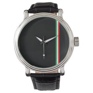 Het minimalistische Italiaanse Ontwerp van de Vlag Horloges