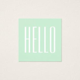 Het minimalistische moderne gewaagde hello vierkant visitekaartjes