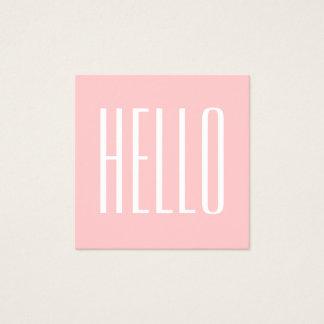 Het minimalistische moderne roze gewaagde vierkant visitekaartjes