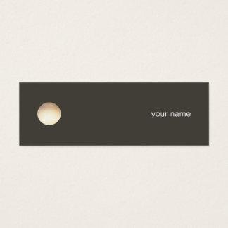 Het minimalistische Visitekaartje van de Cirkel Mini Visitekaartjes