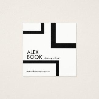 Het minimalistische Visitekaartje van de Douane Vierkante Visitekaartjes