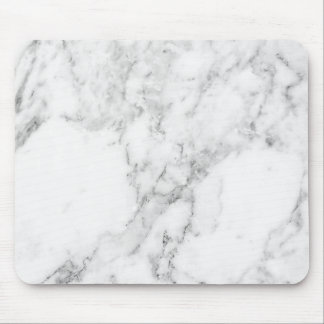 Het minimalistische Witte en Grijze Marmeren Muismat