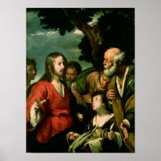 Het mirakel van de Broden en de Vissen, c.1630 Poster