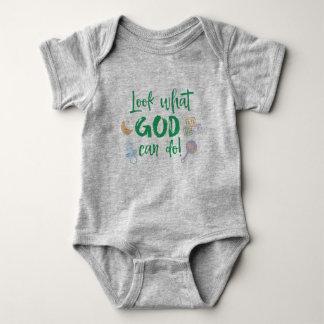 Het Mirakel van het baby: Kijk wat de God Citaat Romper