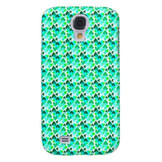Het Mobiele Groene Hoesje van het mooie Patroon Galaxy S4 Hoesje