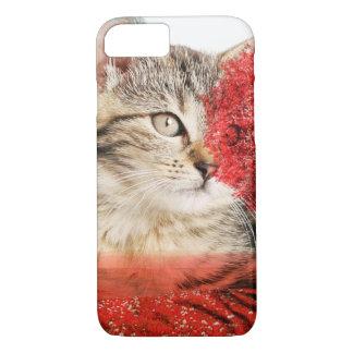 het mobiele hoesje van de gestreepte katkat