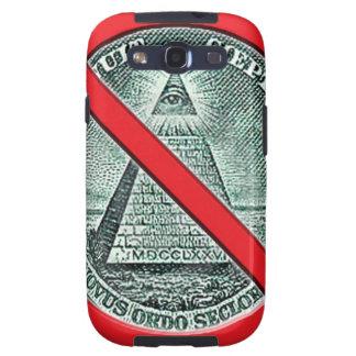 Het Mobiele Hoesje van de Telefoon antiIlluminati Galaxy S3 Hoesje