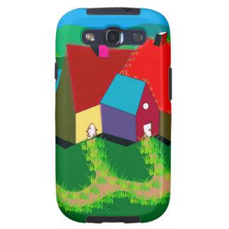 Het mobiele Hoesje van de Telefoon met VolksArt. Galaxy S3 Hoesje
