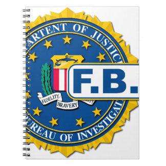 Het Model van de Verbinding van het FBI Ringband Notitie Boek