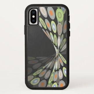 Het moderne Abstracte Digitale Artistieke Omhulsel iPhone X Hoesje