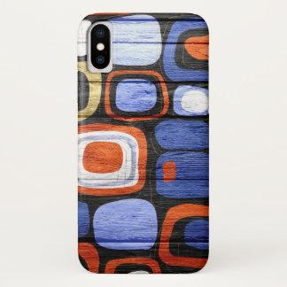 Het moderne Abstracte Hout van de Pastelkleur iPhone X Hoesje
